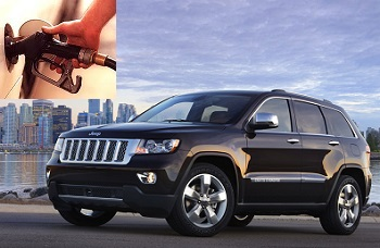 Jeep Grand Cherokee fuel consumption, miles per gallon or litres - km
