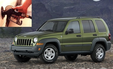 Jeep Liberty fuel consumption, miles per gallon or litres - km