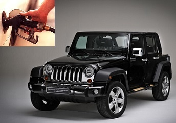 Jeep Wrangler fuel consumption, miles per gallon or litres - km
