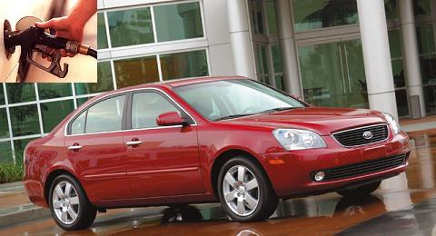 Kia Magentis fuel consumption, miles per gallon or litres - km