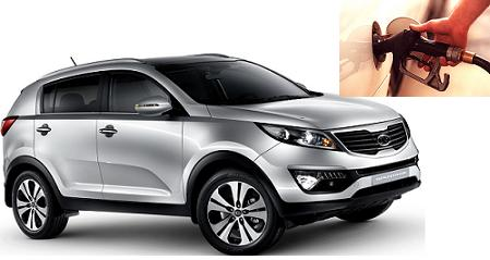Kia Sportage fuel consumption, miles per gallon or litres - km