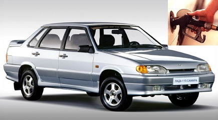 Lada 115 fuel consumption, miles per gallon or litres - km