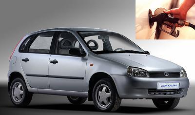 Lada Kalina fuel consumption, miles per gallon or litres - km