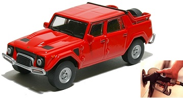 Lamborghini LM 002 fuel consumption, miles per gallon or litres - km