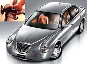 Lancia Thesis fuel consumption, miles per gallon or litres - km