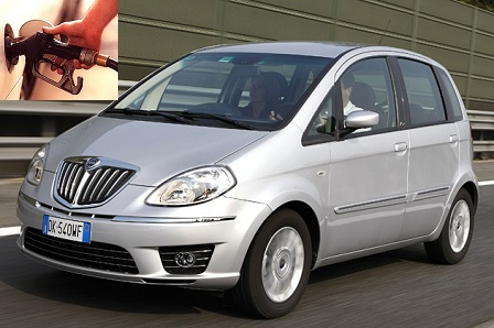 Lancia Ypsilon fuel consumption, miles per gallon or litres - km
