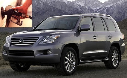 Lexus LX fuel consumption, miles per gallon or litres – km