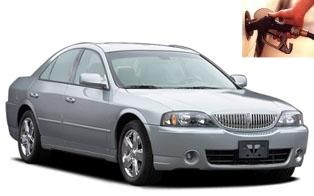 Lincoln LS fuel consumption, miles per gallon or litres – km
