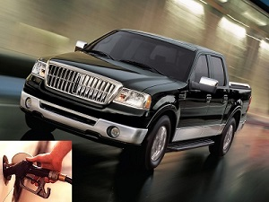 Lincoln Mark LT fuel consumption, miles per gallon or litres – km