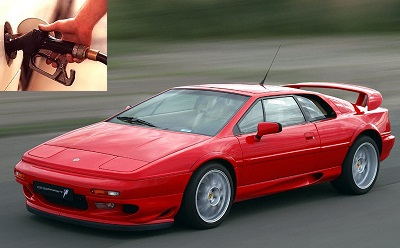 Lotus Esprit fuel consumption, miles per gallon or litres – km