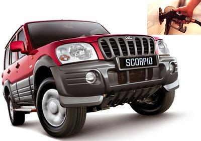 Mahindra Scorpio fuel consumption, miles per gallon or litres – km