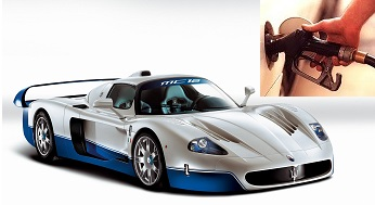 Maserati MC12 fuel consumption, miles per gallon or litres – km