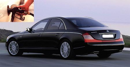 Maybach 57 fuel consumption, miles per gallon or litres – km