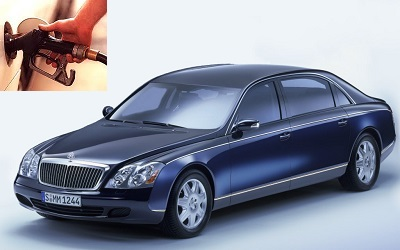 Maybach 62 fuel consumption, miles per gallon or litres – km