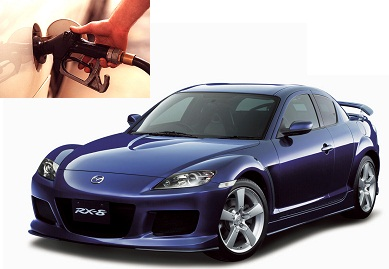 Mazda RX-8 fuel consumption, miles per gallon or litres – km