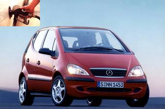 Mercedes Benz A 140 fuel consumption, miles per gallon or litres – km