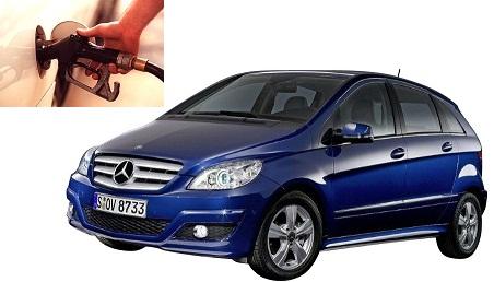 mercedes benz a 180 fuel consumption miles per gallon or