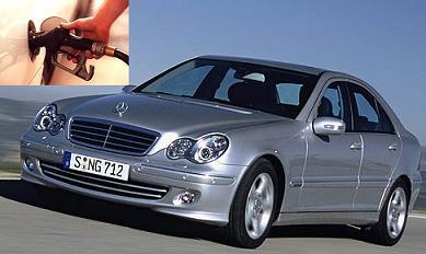 Mercedes Benz C 200 fuel consumption, miles per gallon or litres – km