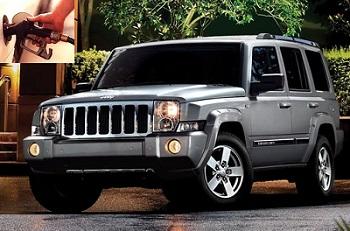 Jeep Commander fuel consumption, miles per gallon or litres - km