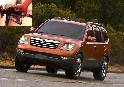 Kia Borrego fuel consumption, miles per gallon or litres - km