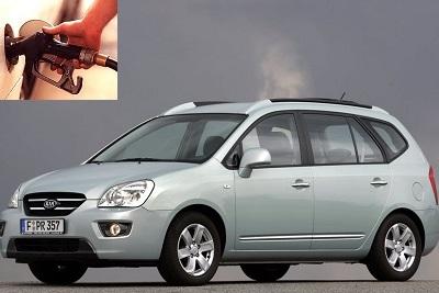 Kia Carens fuel consumption, miles per gallon or litres - km