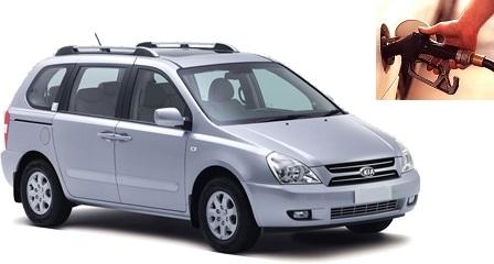 Kia Carnival fuel consumption, miles per gallon or litres - km