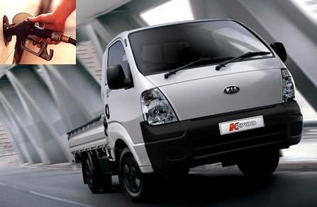 Kia K2700 Workhorse Tipper fuel consumption, miles per gallon or litres - km