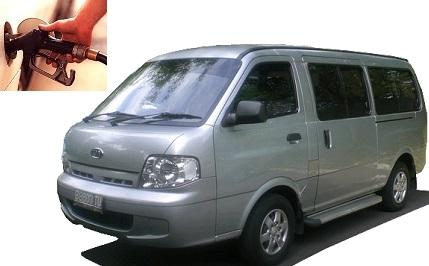 Kia Pregio fuel consumption, miles per gallon or litres - km