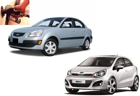 Kia Rio fuel consumption, miles per gallon or litres - km