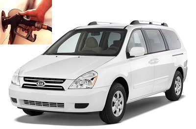 Kia Sedona fuel consumption, miles per gallon or litres - km