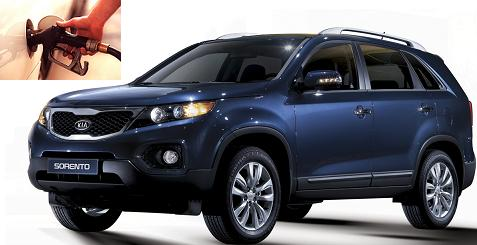 Kia Sorento fuel consumption, miles per gallon or litres - km