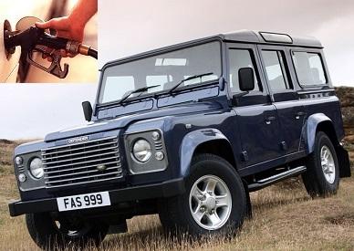 Land Rover Defender fuel consumption, miles per gallon or litres - km