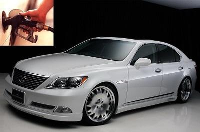 Lexus LS fuel consumption, miles per gallon or litres – km
