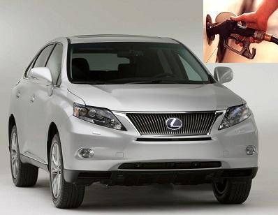 Lexus RX fuel consumption, miles per gallon or litres – km