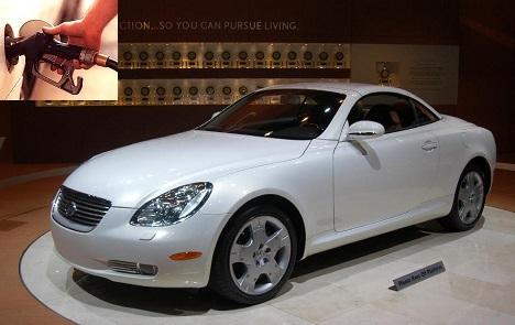 Lexus SC fuel consumption, miles per gallon or litres – km