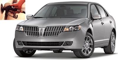 Lincoln MKZ fuel consumption, miles per gallon or litres – km