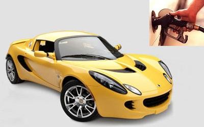 Lotus Elise fuel consumption, miles per gallon or litres – km