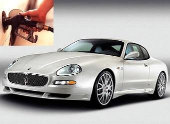 Maserati Coupe fuel consumption, miles per gallon or litres – km