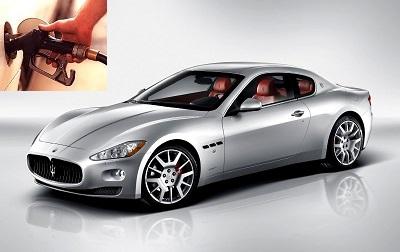 Maserati GranTurismo fuel consumption, miles per gallon or litres – km
