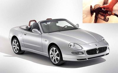 Maserati Spyder fuel consumption, miles per gallon or litres – km