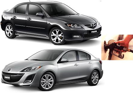 Mazda 3 fuel consumption, miles per gallon or litres – km