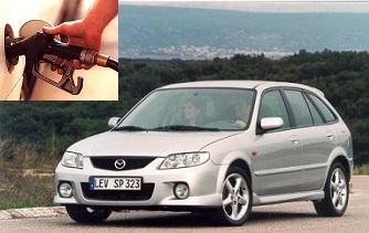 Mazda 323 fuel consumption, miles per gallon or litres – km