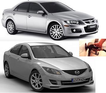 Mazda 6 fuel consumption, miles per gallon or litres – km