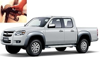 Mazda BT-50 fuel consumption, miles per gallon or litres – km