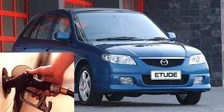 Mazda Etude fuel consumption, miles per gallon or litres – km