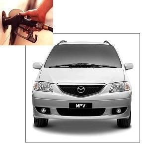 Mazda MPV fuel consumption, miles per gallon or litres – km