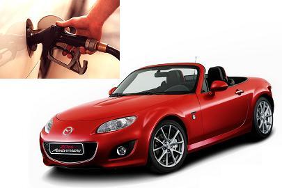 Mazda MX-5 fuel consumption, miles per gallon or litres – km