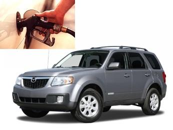 Mazda Tribute fuel consumption, miles per gallon or litres – km