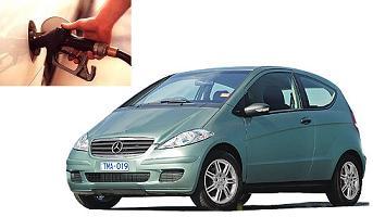 Mercedes Benz A 150 fuel consumption, miles per gallon or litres – km