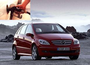 Mercedes Benz B 200 fuel consumption, miles per gallon or litres – km